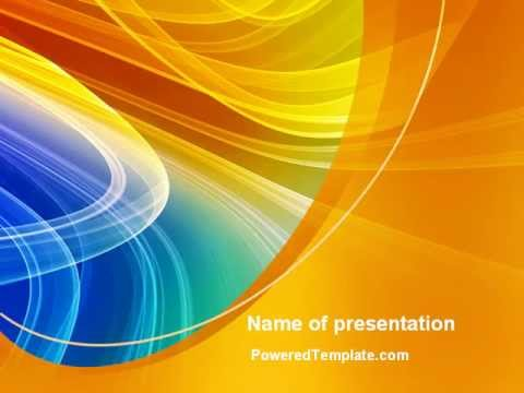 Rainbow Smoke PowerPoint Template by PoweredTemplate - YouTube