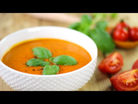 Creamy Roasted Red Pepper Tomato Soup   Healthy Vegan Recipes