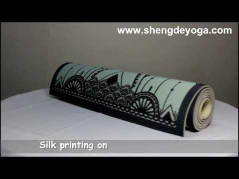 PVC yoga mat video