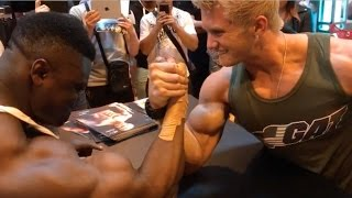 Fitness Model vs Bodybuilder - INSANE ARM WRESTLE!