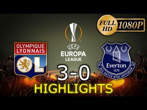 1080p ⚽Lyon 3-0 Everton - Skrót / Highlights - Europe League (Group-Stage)  [02.11.2017]