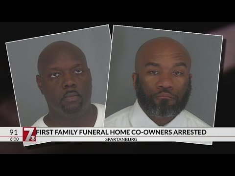 Spartanburg funeral home owners arrested after discovery of remains