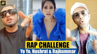 Rajkummar Rao, Nushrat Bharuch & Yo Yo Honey Singh RAP Care Ni Karda LIVE For Fans | Chhalaang