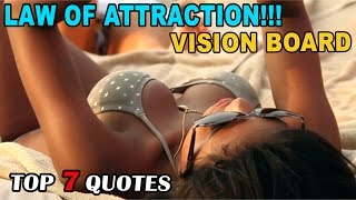 Luxury Lifestyle Vision Board With Top 7 Quotes! Subliminal Programming To Attract Money!