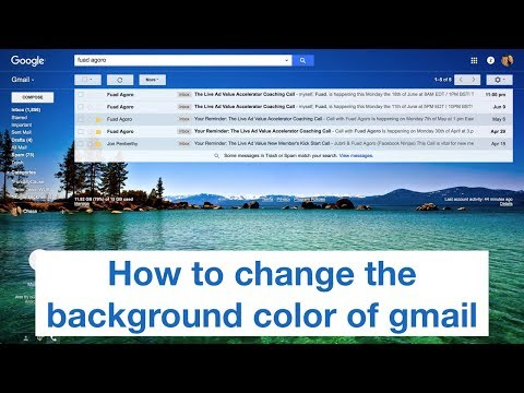 How To Change The Background Color Of Gmail