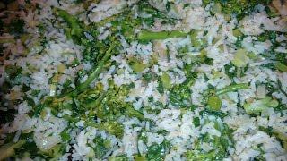 Como fazer arroz com brócolis delicioso 😻