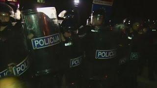 Refugee crisis: riot police use pepper spray at Slovenia border