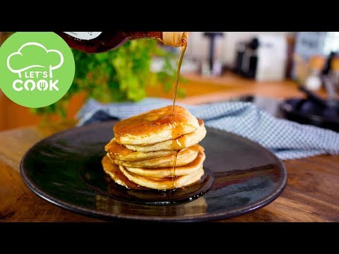 rezept einfache pancakes schnell gemacht super fluffig youtube. Black Bedroom Furniture Sets. Home Design Ideas