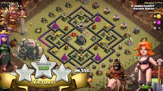 Clash Of Clans | TH9 3 Star GoVaHo Attack | War Base(Spread Out Buildings) | Clan War 2016