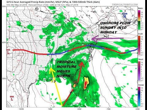 Tropical System Possible Will Impact Memorial Day Holiday Weekend