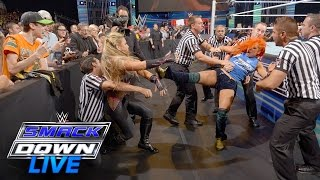 Becky Lynch attacks Natalya: SmackDown Live, July 19, 2016