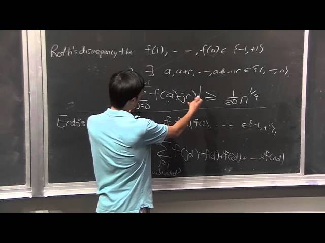 Terence Tao: The Erdős Discrepancy Problem