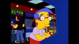 Millhouse playing Waterworld video game