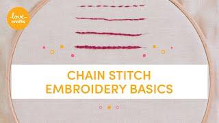 Embroidery Basics - Chain stitch
