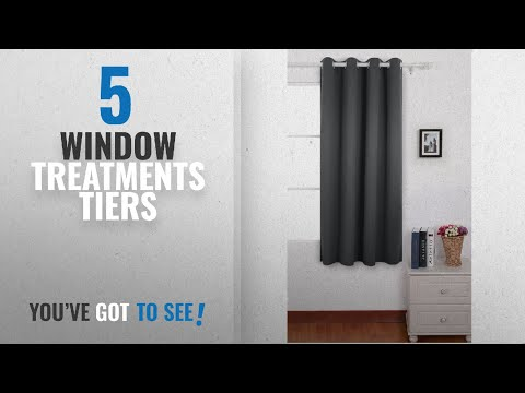 Top 10 Window Treatments Tiers [2018]: Deconovo Soft Solid Curtain Ring Top Curtain Blackout