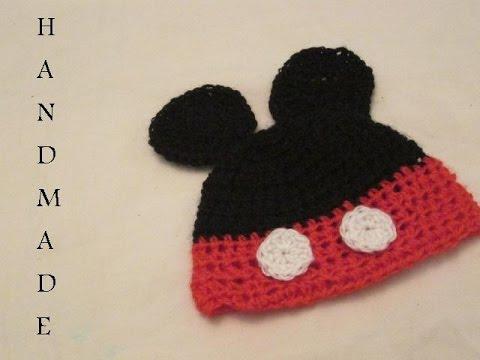 32696f3b6 كروشيه طاقية ميكي ماوس للبيبي خطوة بخطوة # HandMade Crochet ...