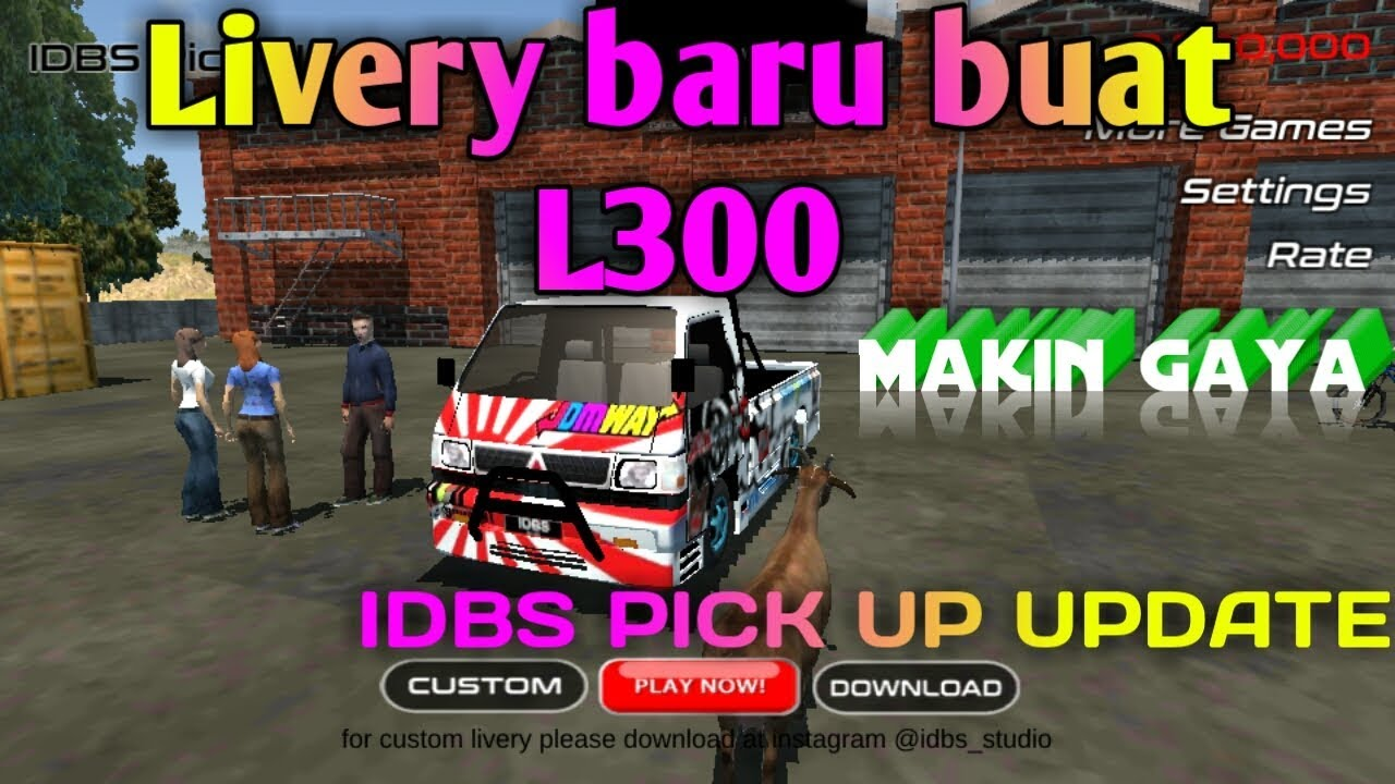 Update Livery Idbs Pickup Simulator Idbs Pick Up L300 Youtube