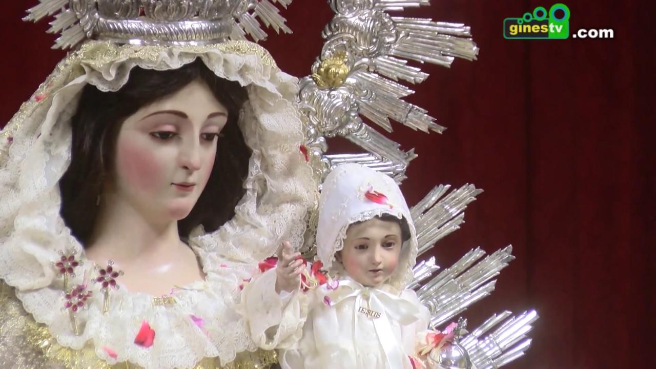 Imagen histórica de Nuestra Señora de Belén en su Casa de Hermandad debido a la lluvia