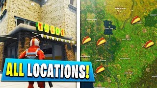 """""""Visit Different Taco Shops in a Single Match"""" ALL LOCATIONS (Fortnite Week 9 Challenges)"""