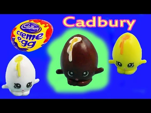 Custom Shopkins Season 1 Cadbury CHOCOLATE Creme Egg DIY Painted Craft Kawaii Toy