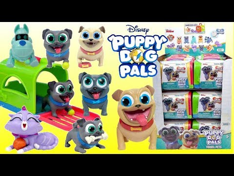 Disney Junior Puppy Dog Pals Travel Pets Figures Series 1 Just Play