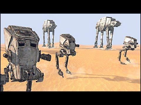 AT-AT TRENCH ASSAULT ON JAKKU - Star Wars: Galaxy at War Mod Gameplay