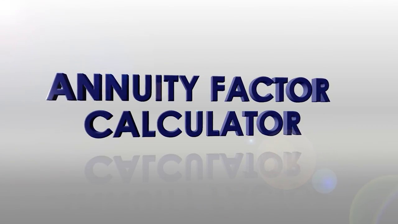 annuity factor calculator youtube