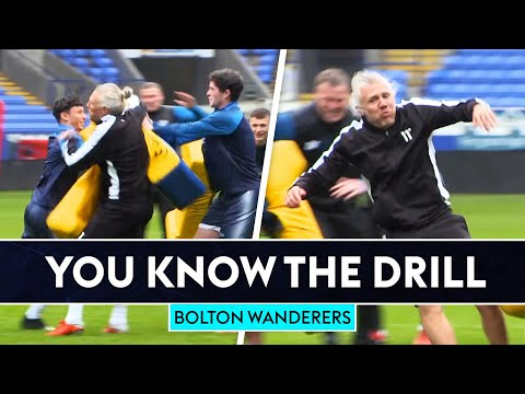 Jimmy Bullard gets SMASHED with tackle bags!   You Know The Drill   Bolton Wanderers