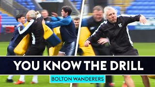 Jimmy Bullard gets SMASHED with tackle bags! | You Know The Drill | Bolton Wanderers