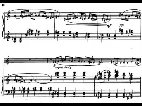 Paul Creston - Sonata for Alto Saxophone and Piano, Op. 19 (1939) [Score-Video]