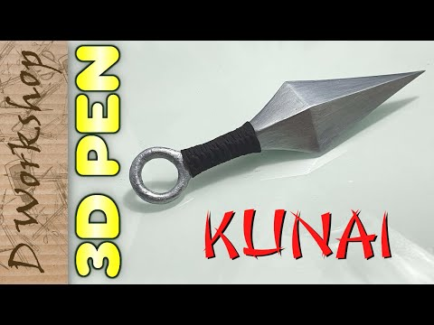 How To Make Real and Unique Kunai Knife Naruto Using 3d Printing Pen