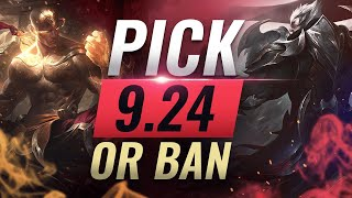 OP Pick or Ban: BEST BUILDS For EVERY Role - League of Legends Patch 9.24
