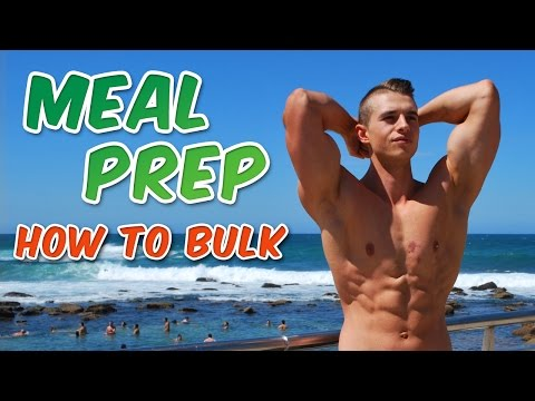 HOW TO MEAL PREP | BULK FULL DAY OF EATING | GROCERY SHOPPING | REVERSE DIET