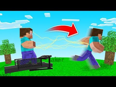 EXERCISE In MINECRAFT = SUPER RUNNING SPEED! (amazing)