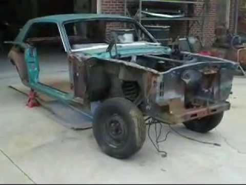 1965 Mustang floor pan install.