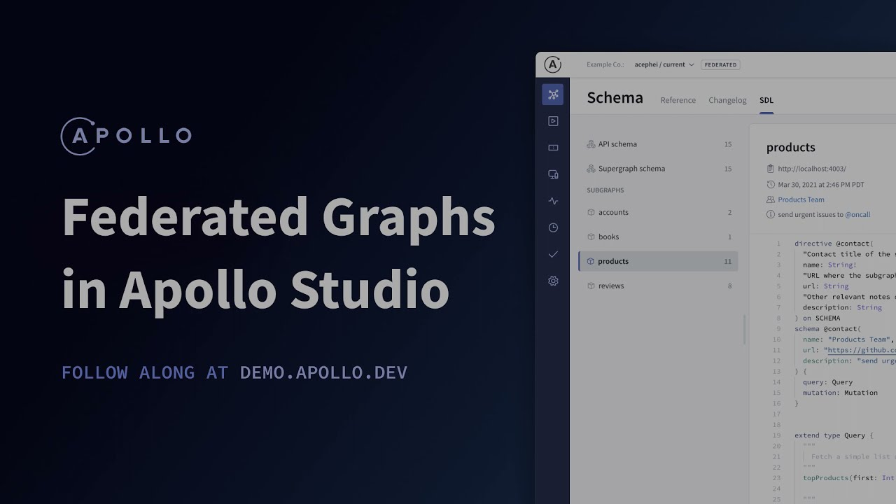 Working with Federated Graphs in Apollo Studio