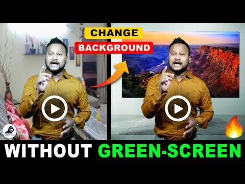 How To Change Video Background Without Green Screen | Bina Green Screen Ke Background Change Kare