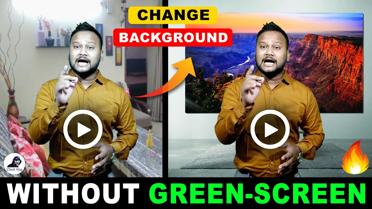 Download How To Change Video Background Without Green Screen | Bina Green Screen Ke Background Change Kare