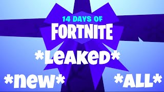 *ALL* *NEW* 14 days of fortnite free gifts *LEAKED*