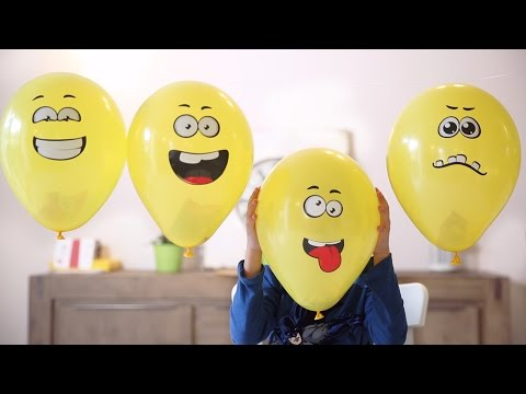 Toys in Popping Balloons - Funny Faces - Lego and Others