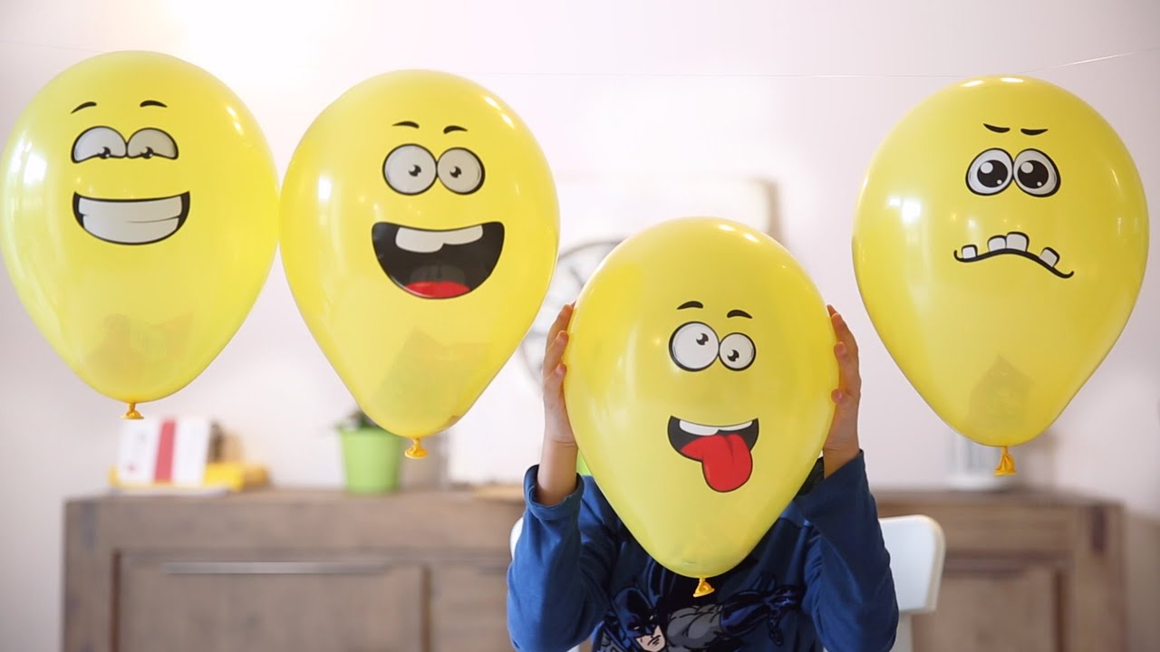 Toys in Popping Balloons - Funny Faces - Lego and Others ...