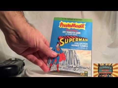 """Prestomagiix"" PictureMagic Dry Transfer Game Featuring Superman (1979) I Tikifire Toy Reviews"