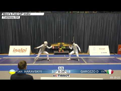 2018 134 M F Individual TURIN ITA GP T64 17 blue GAROZZO ITA vs HARAVSKYI UKR