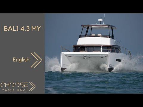 Bali 4.3 MY (Motor Yacht) Guided Tour Video by Bali Catamarans