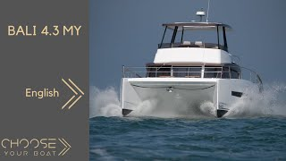Bali 4.3 MY (Motor Yacht) Guided Tour Video by Bali Catamarans
