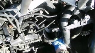 cambio del filtro gasoil en un motor hdi de citroen - peugeot