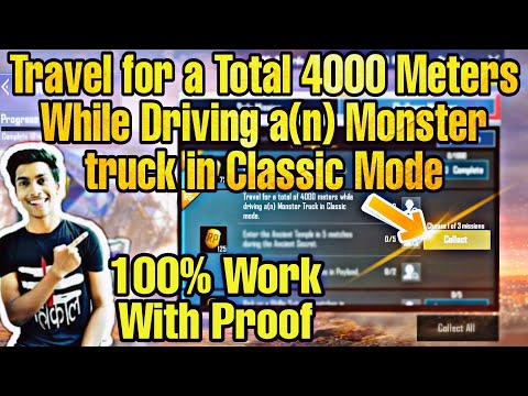Travel for a Total 4000 Meters While Driving a(n) Monster truck in Classic Mode Mission PUBG Mobile