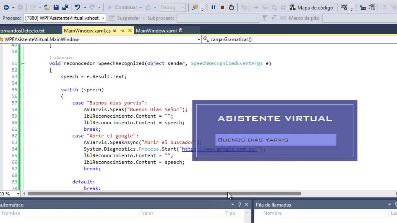 Crear tu Asistente Virtual para PC en C# WPF parte 2 - YouTube