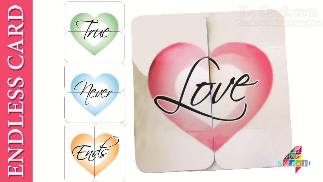 Diy How To Make An Endless Love Card True Love Never Ends