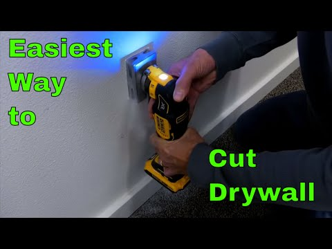 Easiest way to cut drywall for electrical receptacle
